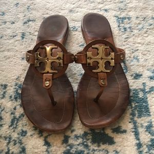 Tory Burch Miller Sandal with gold hardware!
